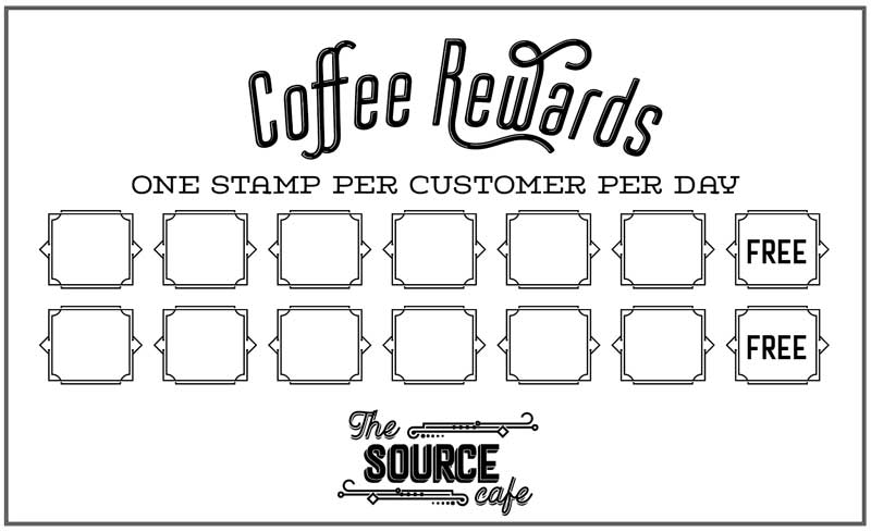 coffee rewards card